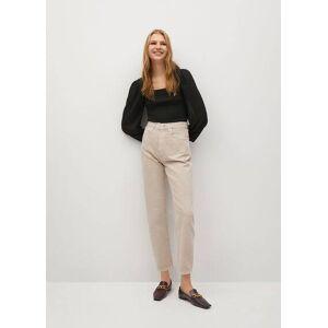 Mango Balloon high-waist jeans  - Open beige - Size: 42