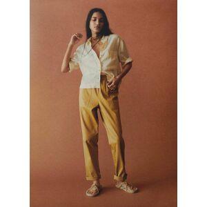 Mango Raffia sandalen met bandjes  - Open beige - Size: 37