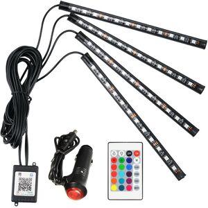 Geeek LED auto interieur verlichting RGB + Afstandbediening - Binnenverlichting