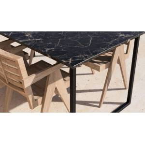 Aime Té Marmeren Tuintafel - Eagle Emperador - Bruin - 220 x 90 cm