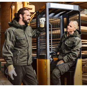 James & Nicholson Solid softshell winterjack JN886 - Korenblauw - XXL  - Korenblauw - Mannen, Vrouwen