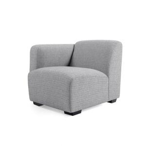 Kave Home - Grijze zitplaats Legara met armleuning aan de linksant 80 cm