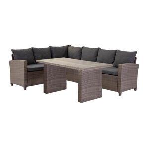 Moderne grijze ''Asolo'' lounge set - L245xB169xH73 cm