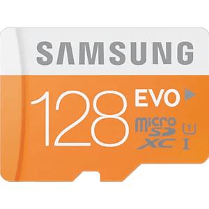 Samsung Geheugenkaart microSDXC EVO 128 GB Class 10 + adapter