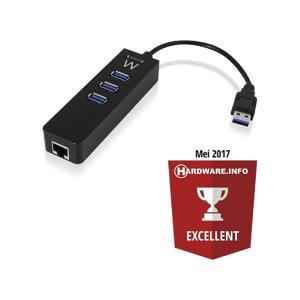 EMINENT USB-hub 3.1 3 ports + Gigabit netwerkpoort