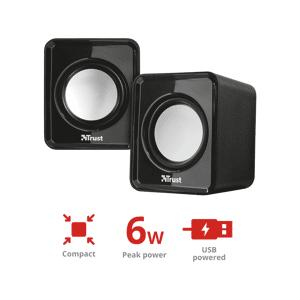 Trust Stereo PC luidsprekers Leto 6 W Zwart