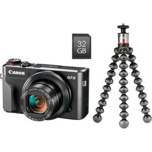Canon Compact Camera PowerShot G7 X Mark II + Tripod + 32GB SD-kaart Wi-Fi