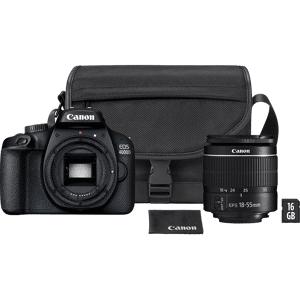 Canon Reflexcamera EOS 4000D + 18-55mm + SB130 Schoudertas + 16 GB SD kaart