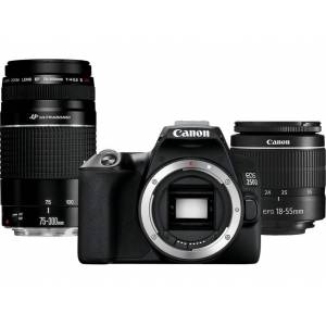 Canon Reflexcamera EOS 250D + 18-55mm + 75-300mm