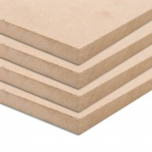 vidaXL MDF platen rechthoekig 120x60 cm 12 mm 4 st