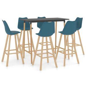 vidaXL 7-delige Barset turquoise