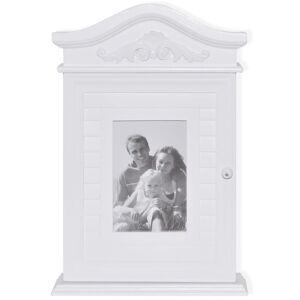 vidaXL Sleutelkastje met fotolijst wit