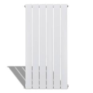 vidaXL Enkele verwarmingsradiator wit 465 mm x 900 mm plus handdoekrek
