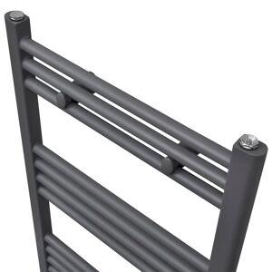 vidaXL Radiator/handdoekenrek recht 480x480 mm grijs