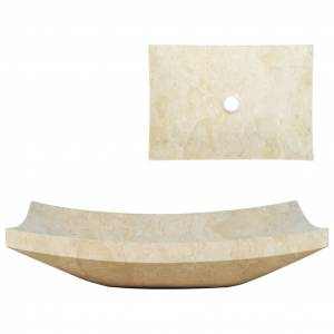 vidaXL Gootsteen 50x35x12 cm marmer crème