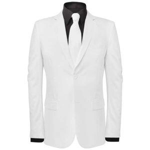 vidaXL Tweedelig pak met stropdas wit mannen maat 46