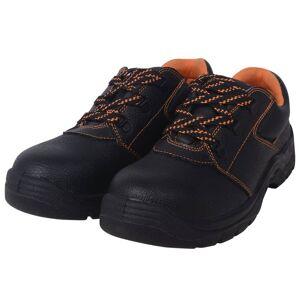 vidaXL Veiligheidsschoenen zwart maat 44 leer