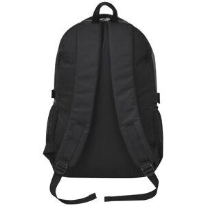 vidaXL Rugzak voor school 40 L zwart en grijs