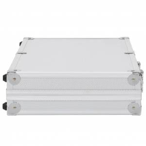 vidaXL Wapenkoffer aluminium ABS zilverkleurig