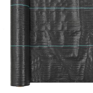vidaXL Tuindoek 2x5 m PP zwart