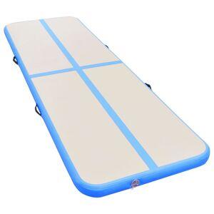 vidaXL Gymnastiekmat met pomp opblaasbaar 700x100x10 cm PVC blauw