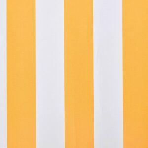 vidaXL Luifeldoek 3x2,5 m canvas zonnebloemgeel en wit