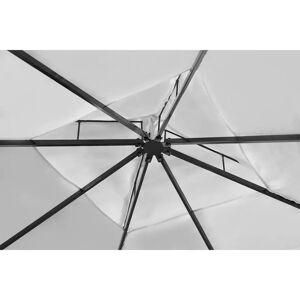 vidaXL Tuinpaviljoen met dak 3x4 m crèmewit