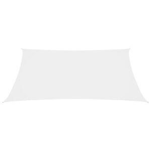 vidaXL Zonnescherm rechthoekig 6x7 m oxford stof wit