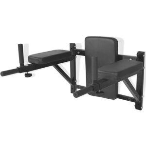 vidaXL Dipstation fitnessapparaat wandgemonteerd zwart