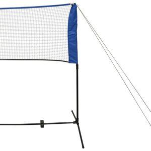 vidaXL Badmintonnet met shuttles 600 x 155 cm