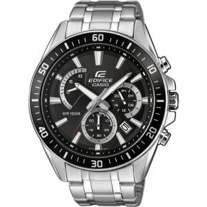 Casio Chronograaf Horloge EFR-552D-1AVUEF (l x b x h) 53 x 47 x 12.3 mm Zilver Materiaal (behuizing): RVS Materiaal (armband): RVS