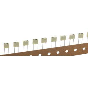 Kemet R82EC2220DQ50K+ 1 stuk(s) Polyester condensator Radiaal bedraad 22 nF 100 V 10 % 5 mm (l x b x h) 7.2 x 2.5 mm x 6.5 mm