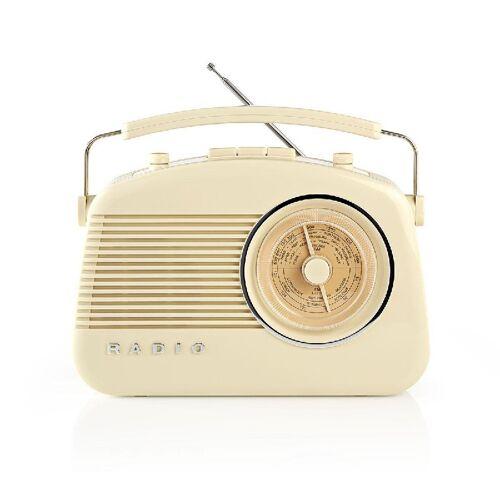 Light Stax AM/FM retroradio Beige