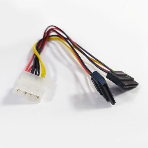KD Y-Adapterkabel 4 pol. HDD / 2x SATA