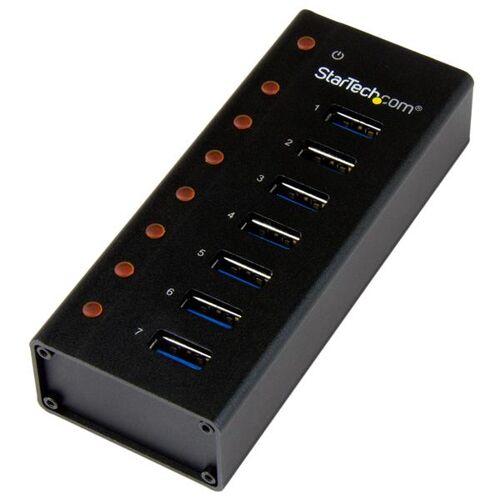 StarTech 7-poorts USB 3.0 hub - op een desktop of op de wand monteerbare metalen behuizing