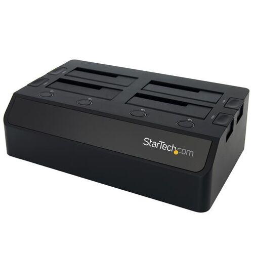 StarTech USB 3.0 naar SATA 6 Gbps hard drive docking station met 4 bays, UASP&dubbele ventilatoren