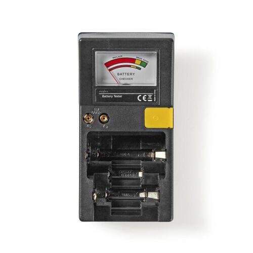 Nedis Batterij tester voor AAA, AA, C, D en 9V