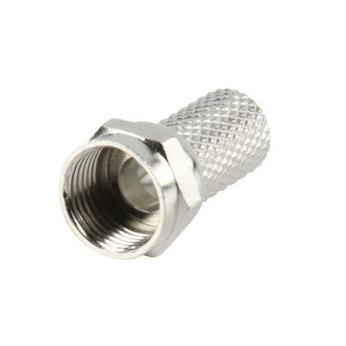 Nedis 5x F-connectors twist-on 6.4mm