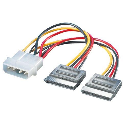 ROLINE Y-Adapterkabel 4 pol. HDD / 2x SATA