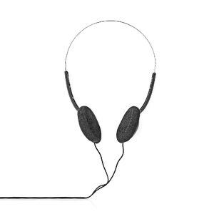 Nedis Stereo Hoofdtelefoon - 1x 3,5mm Jack - 1,2 meter - Basic - Zwart/Zilver