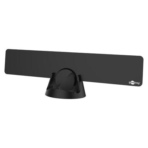 Goobay DVB-T/T2 binnenantenne ultra flat, zwart, met LTE/4G filter