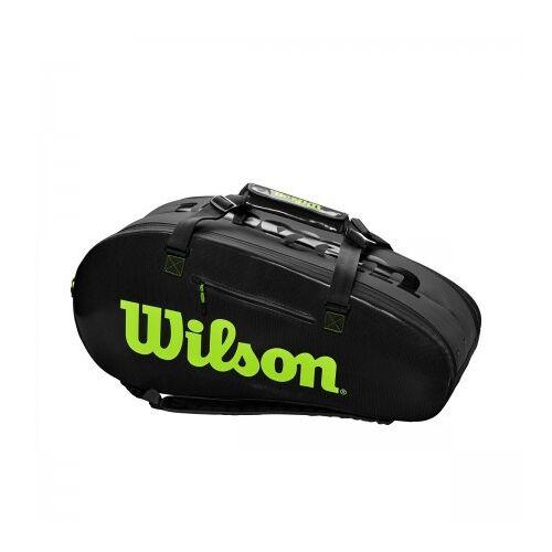 Wilson Tennistas super tour 2 competition charcoal green  - Grijs - Size: One Size
