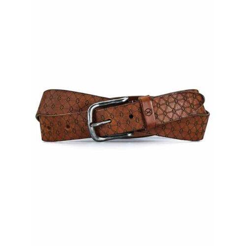Fasten Your Beans Belts Trigon  - Cognac - Size: One Size