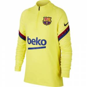 Nike Fc barcelona drill top 2019-2020 sonic yellow  - Geel - Size: Medium