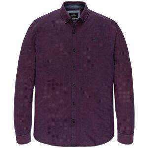 Vanguard Long sleeve shirt print at si vsi206237/3049  - Bordeaux - Size: 3X-Large