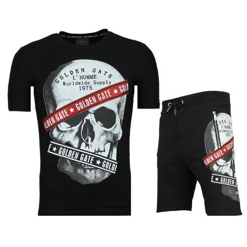 Enos Korte broek trainingspak verkoop van joggingpakken  - Zwart - Size: Large