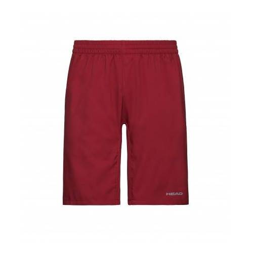 Head Tennisbroek boys bermudas club red-maat 140  - Rood - Size: 140