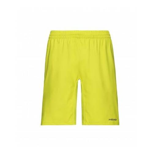 Head Tennisbroek boys bermudas club yellow-maat 140  - Geel - Size: 140