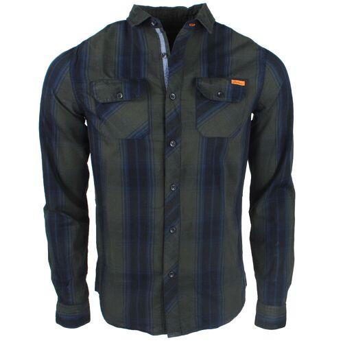 Deeluxe heren overhemd met 2 borstzakjes gestreept model tilburg -  - Groen - Size: Large