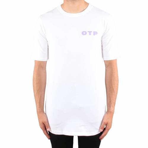 Off The Pitch Script tee  - Wit - Size: Small